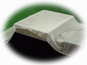 濾過布の型布と豆腐型箱