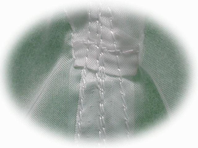 落し袋(テトロン3号)の縫い目